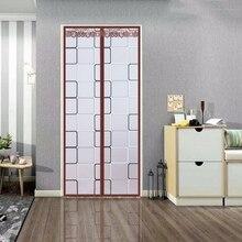 Мягкий магнитный теплоизолированный дверной занавес для кондиционера комнаты/кухни магнитный экран затемнение водонепроницаемый