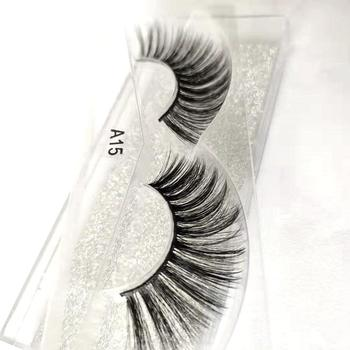 3D Fake Mink Hair False Eyelashes Natural/Thick Long Eye Lashes Wispy Makeup Messy Winged Extension Tools Wimpers image