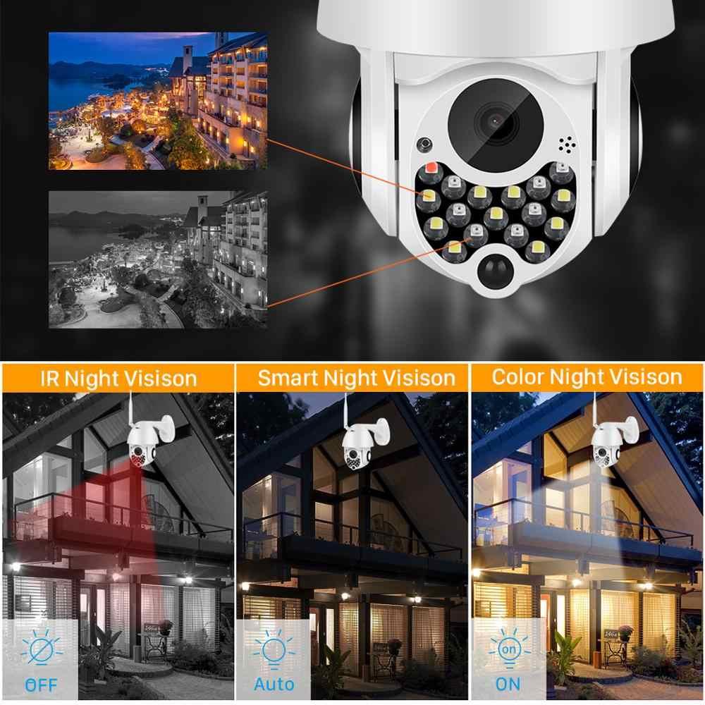 1080P PTZ Wifi Camera IP 4X Digitale Zoom Outdoor CCTV Security Camera sd-kaart Cloud Storage Auto Tracking 2MP draadloze IP Camera