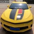 1 комплект декоративных наклеек на капот автомобиля-Chevrolet Camaro RS LS SS LT гоночные спортивные полосы Декор кузова автомобиля виниловые наклейки