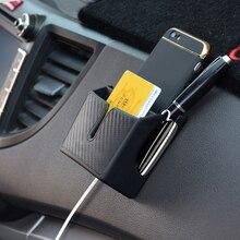Car Storage Box Mobile Phone Holder Car Organizer Vehicle Adhesive Storage Box Auto Interior Accessories black car auto interior plastic coin case storage box holder container organizer