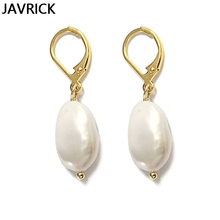 Natural Freshwater Pearl Hoop Earrings Circle Drop Wedding Earring Women Jewelry цена 2017