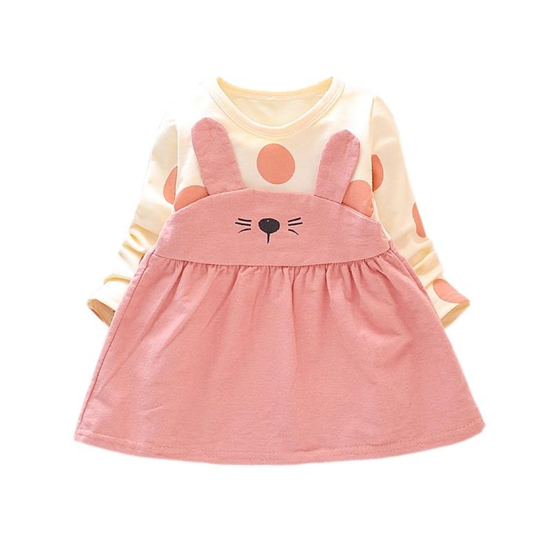 Casual Newborn Dress Infant Baby Clothes Girl Clothing Cartoon Princess Long Sleeve Dress Spring Autumn Girls Dresses 6M- 3T