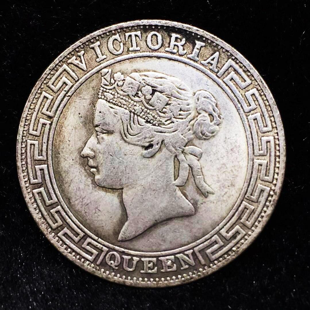 1867 Victoria Königin China Hong Kong Silber Trade Dollar Münze Medaille Gedenkmünzen sammlerstücke Magie münze Weihnachten geschenke