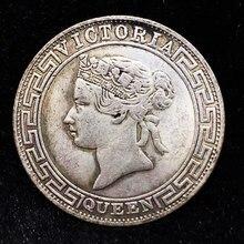 Pièce de monnaie magique à collectionner, pièce commémorative, pièce de monnaie, commerce de l'argent de Hong Kong, Victoria Queen, 1867, cadeaux de noël
