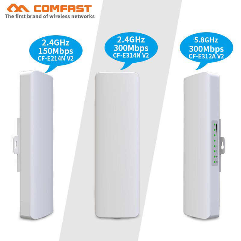 1-5km 2.4G และ 5Ghz wireless bridge CPE 150 ~ 300Mbps Access Point เสาอากาศ WIFI wi-fi extender repeater Nanostation wifi