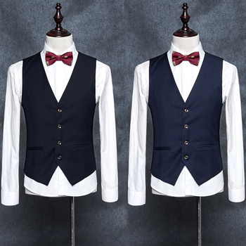 2019 New Brand Dress Vests For Men Slim Fit Mens Suit Vest Male Waistcoat Gilet Homme Casual Sleeveless Formal Business Jacket showersmile mens double breasted vest suit black dress waistcoat for men slim fit sleeveless jacket male spring autumn gilet