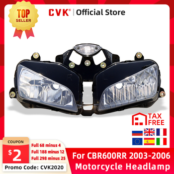 CVK Motorcycle Headlight Headlamp Head Light For HONDA CBR600RR 2003 2004 2005 2006 CBR600 CBR 600RR 03 04 05 06 Head Lamp Parts motorcycle fairing kit for honda cbr600rr f5 2013 2017 injection abs plastic fairings cbr 600rr 13 17 gloss wihte bodyworks