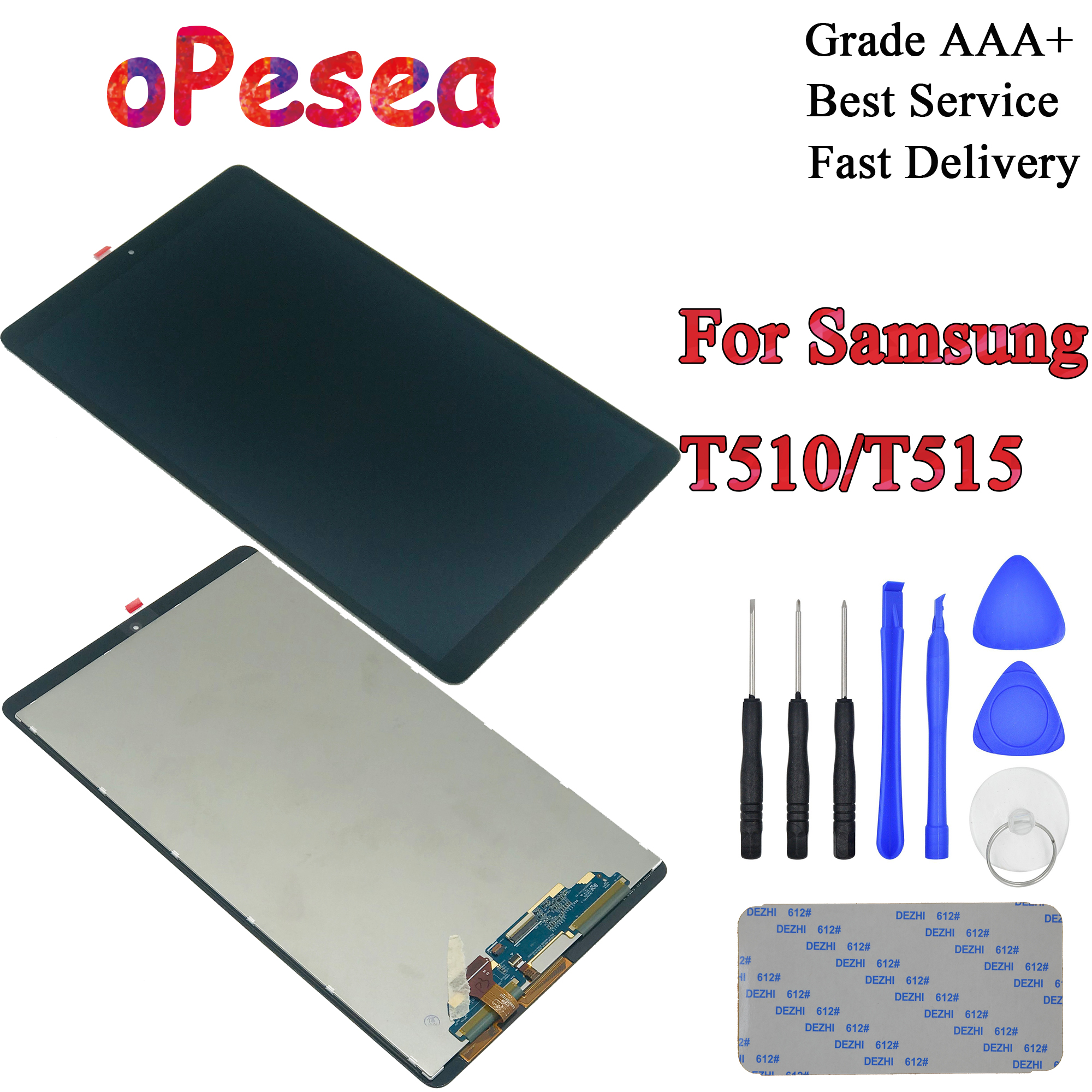 Samsung Galaxy Tab A 10.1 2019 SM-T515 T510 LCD Digitizer Touch Screen Assembly