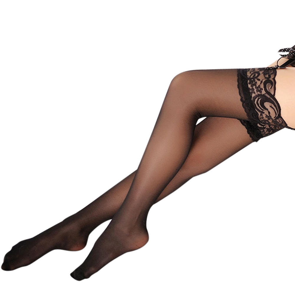 Erotic Sexy Stockings Women Lace Thigh High Silk Stocking Sexy Lingerie Porn Babydoll Temptation Sexy Underwear Sex Costume 1Pcs