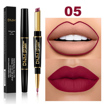 Waterproof Matte Lipstick Pencil Lip Liner Makeup  2