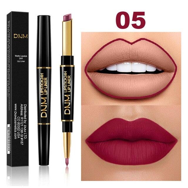Waterproof Matte Lipstick Pencil Lip Liner Makeup  2