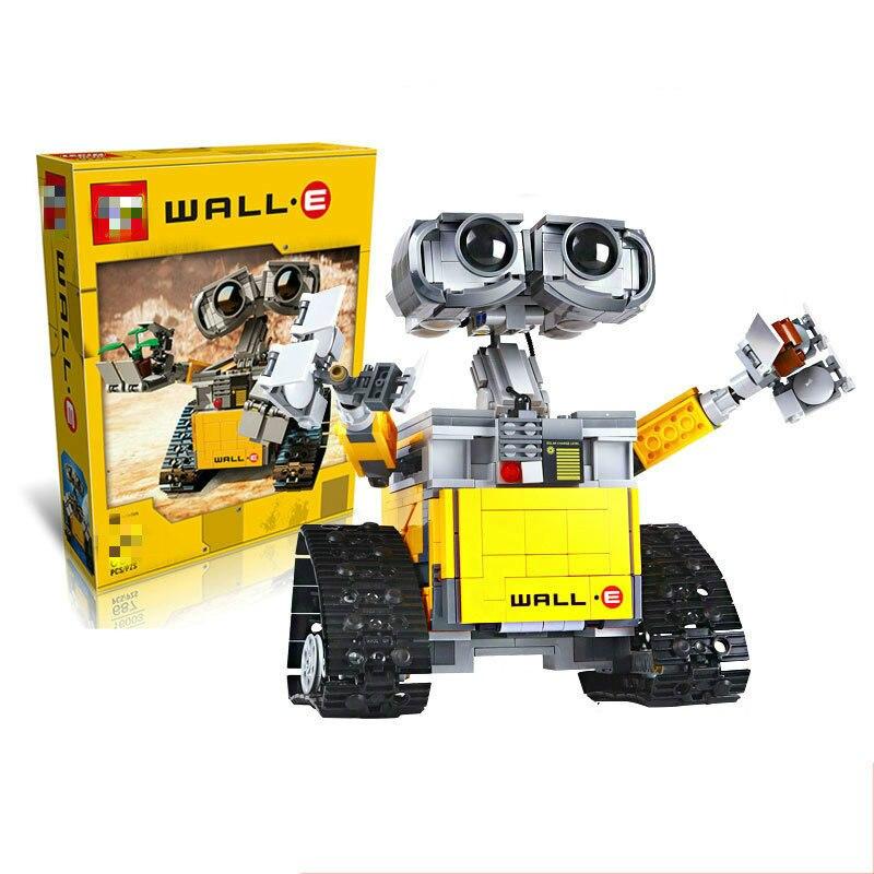 Набор деталей, робот стена, строительные блоки, кубики, игрушки для детей, WALL E, подарки на день рождения, совместимые 21303 Блочные конструкторы      АлиЭкспресс