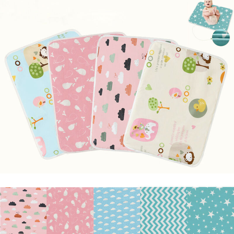 Waterproof Changing Pads Diaper Pad Cotton Covers Washable Baby Infant Urine Mat Nappy Bed