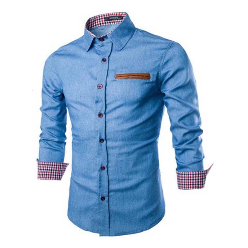 ZOGAA 2019 חם חדש מותג גברים של Camisa Masculina ארוך שרוול זכר חולצת כותנה עסקי Slim Fit חולצה Streetwear מקרית חולצות