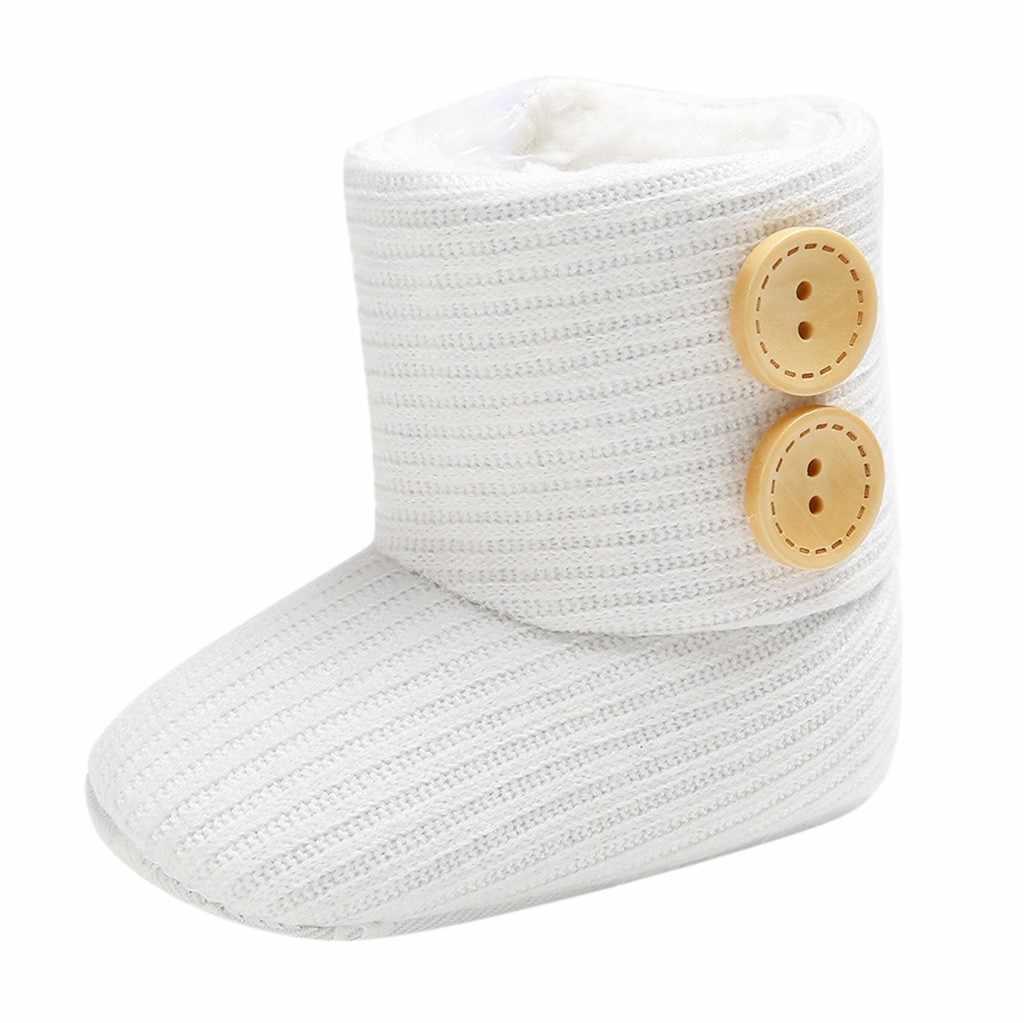 2019 Peuter Kids Baby Meisjes Jongens Winter Warm Solid Button Snowboots Bootie Schoenen kinderen schoenen kinderen schoenen jongens meisjes sneakers