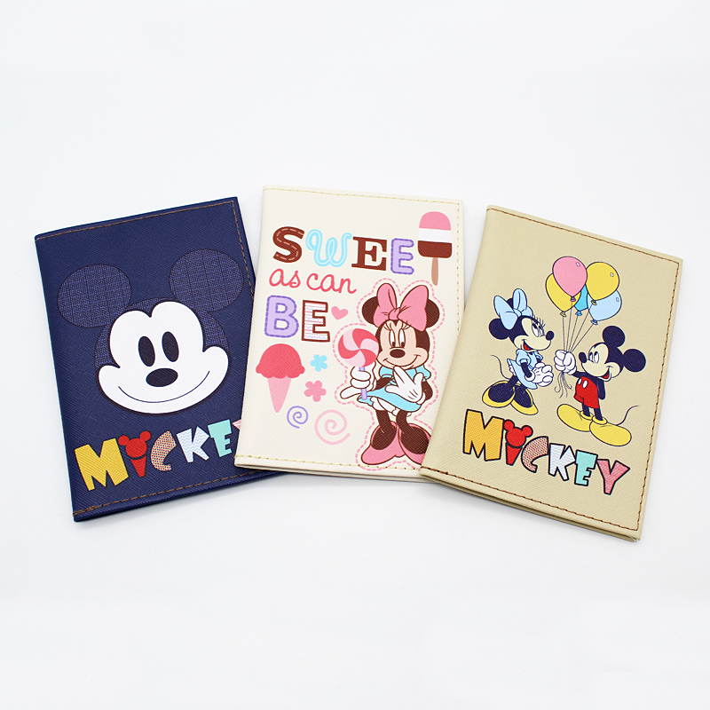 Cartoon Mickey Duck Travel Passport Holder Cover Wallet Waterproof Dirt PU Leather ID Credit Card Holders Case Passport Cover