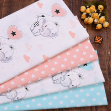 Dress Quilting Balloon Bedding Printed Cloth Patchwork Fabric Sewing Elephant Baby Kids
