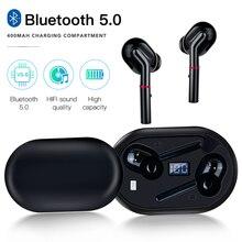 Uv led desinfecção bluetooth fone de ouvido exibição energia tws rotativo capa portátil fone de ouvido com corda emparelhamento automático sem fio earbud