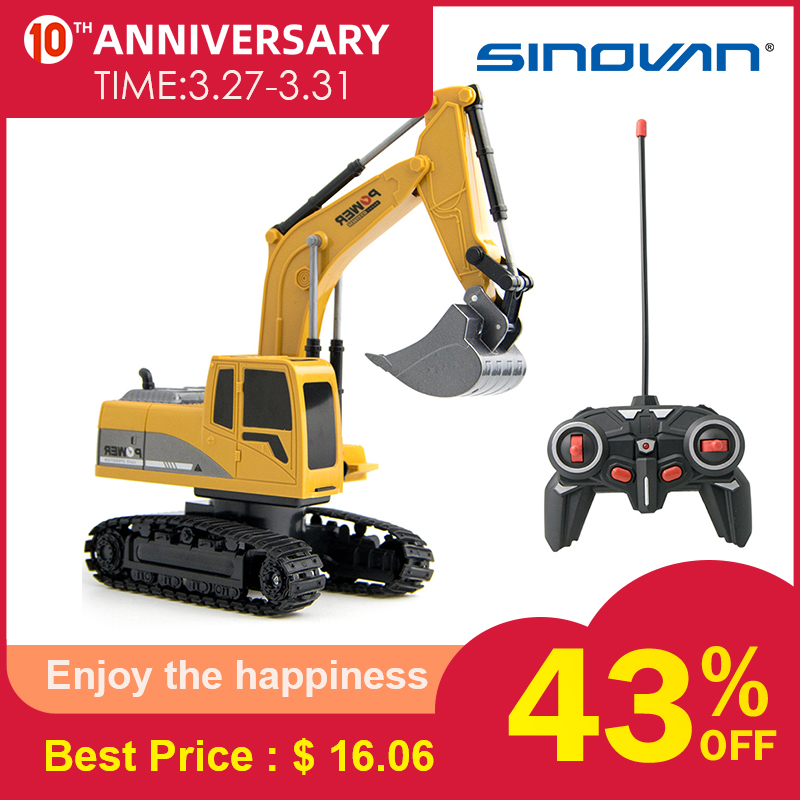 Rc Truck Channel 1:24 RC Excavator Toy RC Engineering Car Alloy And Plastic Excavator Traktor RTR For Kids Christmas Gift