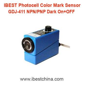 цена на GDJ-411 Print Photocell Photoeye Color Mark Sensor Switch/Contrast Sensor NPN/PNP 12V/24V DC (IBEST)