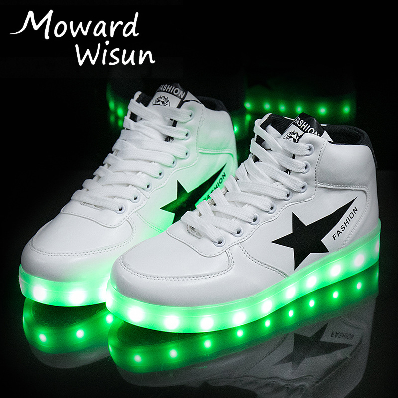 Men's & Women's Luminous Glowing Sneakers For Adult With Luminous Sole Lighted Shoes Led Running Shoes With Lights Led Slippers