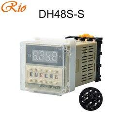 Wysokiej jakości DH48S-S DH48S-1Z DH48S-2Z 2ZH przekaźnik powtarzający cykl przekaźnik czasowy/timer z gniazdem 220V 110V 24V 12V alternatywny H5CN