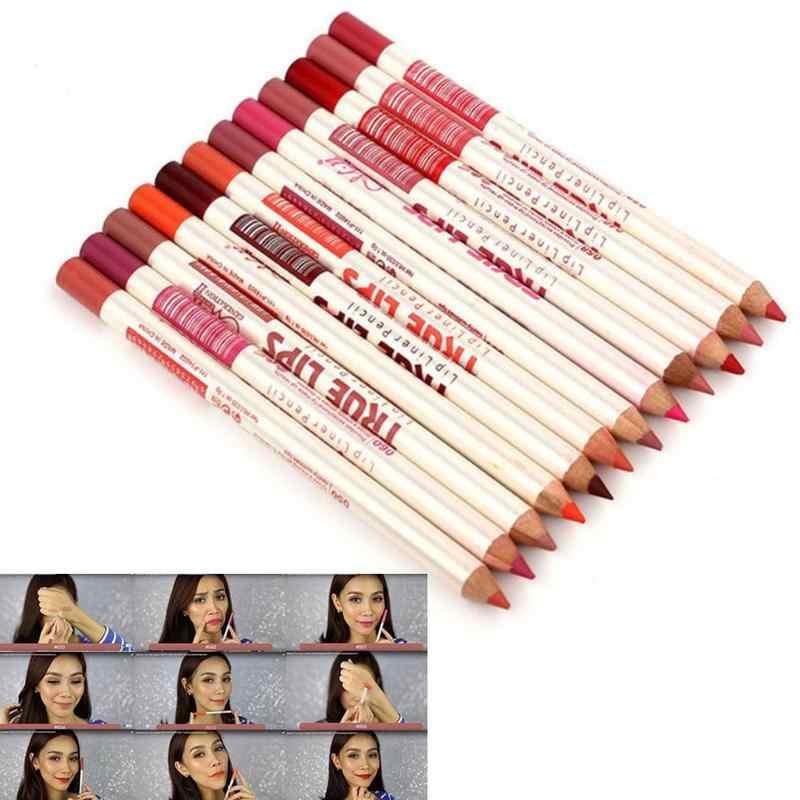 6 pz/set Lipliner Matita Nude Matte Rossetti Penna Impermeabile di Lunga durata di Velluto Sexy Lip Stick labbra Trucco Cosmetico di Bellezza strumento