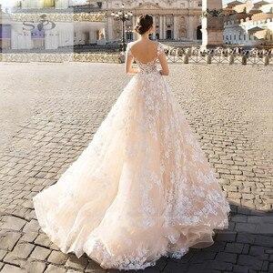 Image 3 - SODigne תחרה boho 2020 קו הכלה שמלות אלגנטי & פיות חתונה שמלות תפור לפי מידה חתונה שמלות כלה