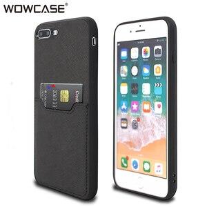 Для iPhone 7, чехол для iPhone 8 Plus, WOWCASE, бизнес кожа, слот для карт, кошелек, ультра тонкий силиконовый чехол для iPhone 7 Plus, 8 Plus, Fundas