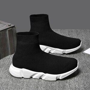Image 3 - Yeni örgü çorap ayakkabı erkek spor ayakkabı nefes rahat erkek ayakkabıları çift loafer ayakkabılar adam rahat Zapatillas Hombre 35 47