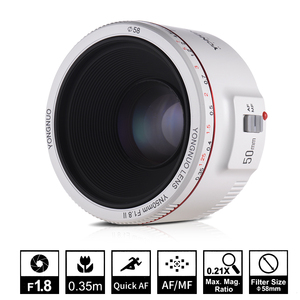 Image 2 - YONGNUO YN50mm F1.8 II Tự Động Khẩu Độ Lớn Tập Trung Ống Kính 50Mm Lentes Cho Canon 100d 650d 5d 77d 500d 1000d 5DIV 5DIII 5DII 5D 60D