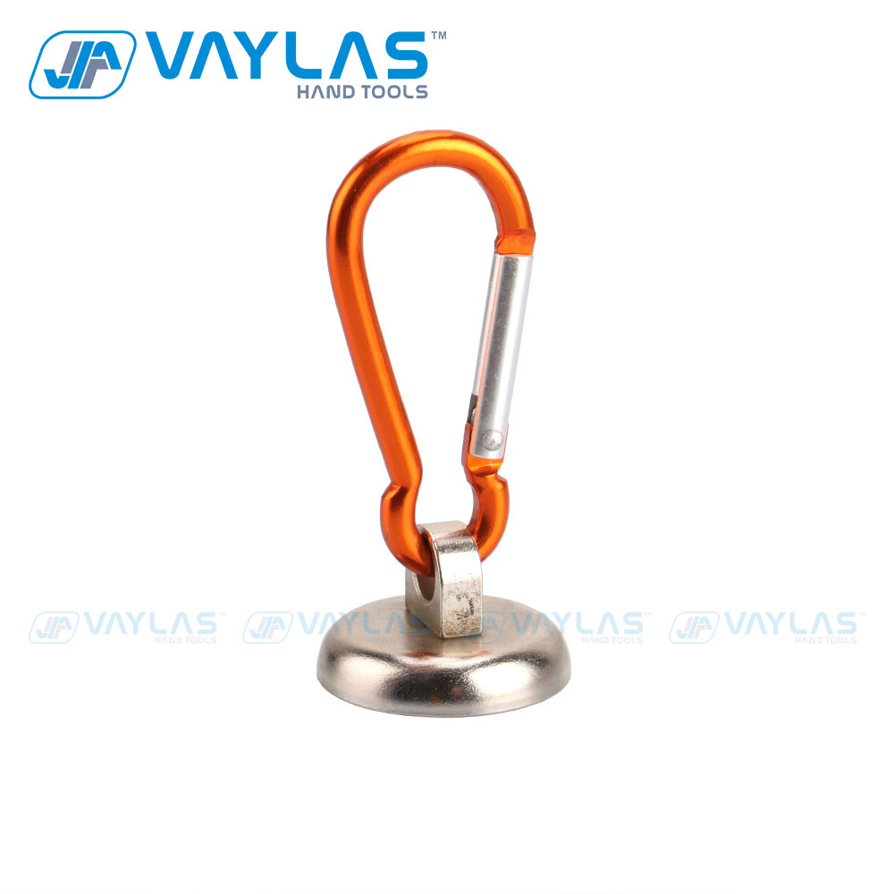 VAYLAS Magnetic Carabiner Lock Strong Powerful Circular Ring With 7.5KG Capacity Lifting Tools Salvage Suction Cup Universal