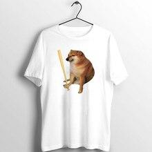 Unisex Tshirt Women T Shirt Bonk Meme Doge Funny Artwork Printed Tee Swole Doge print basic white casual short sleeve tops tees