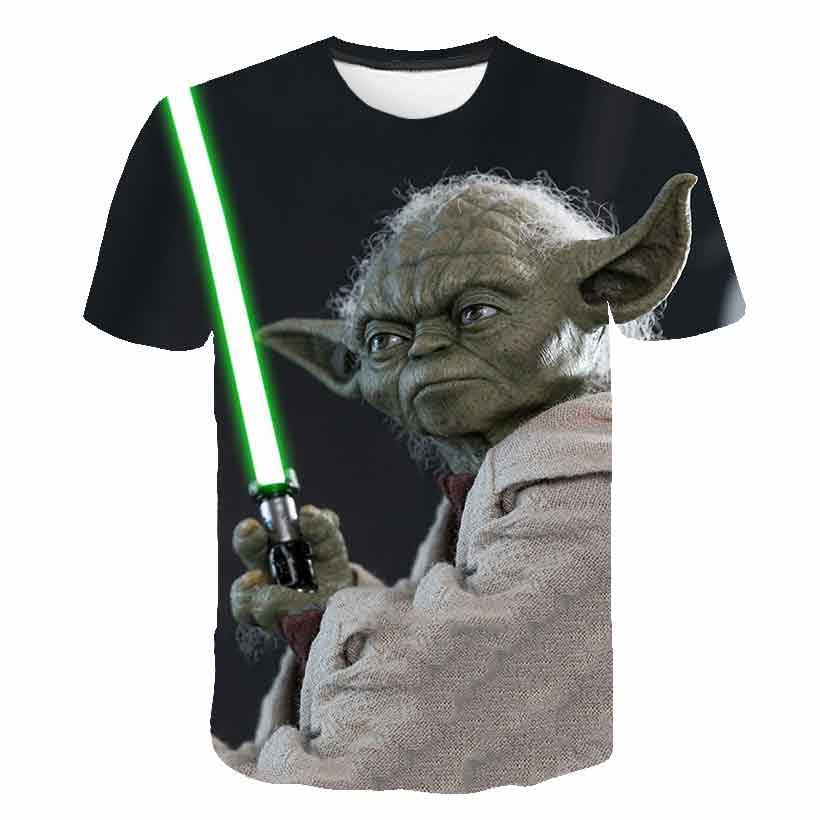 Yoda short sleeve T-shirt men's trend 2020 new 3d-printed half-sleeve crewneck men's short sleeve shirt
