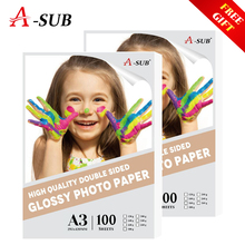A3 100sheets Inkjet Glossy Photo Paper Double Side Waterproof Printing  For Inkjet Printer