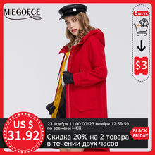 MIEGOFCE 2020 New Spring Windproof Designer Women Trench Warm Cotton Coat Spring Windbreaker with Resistant Collar with Stylish