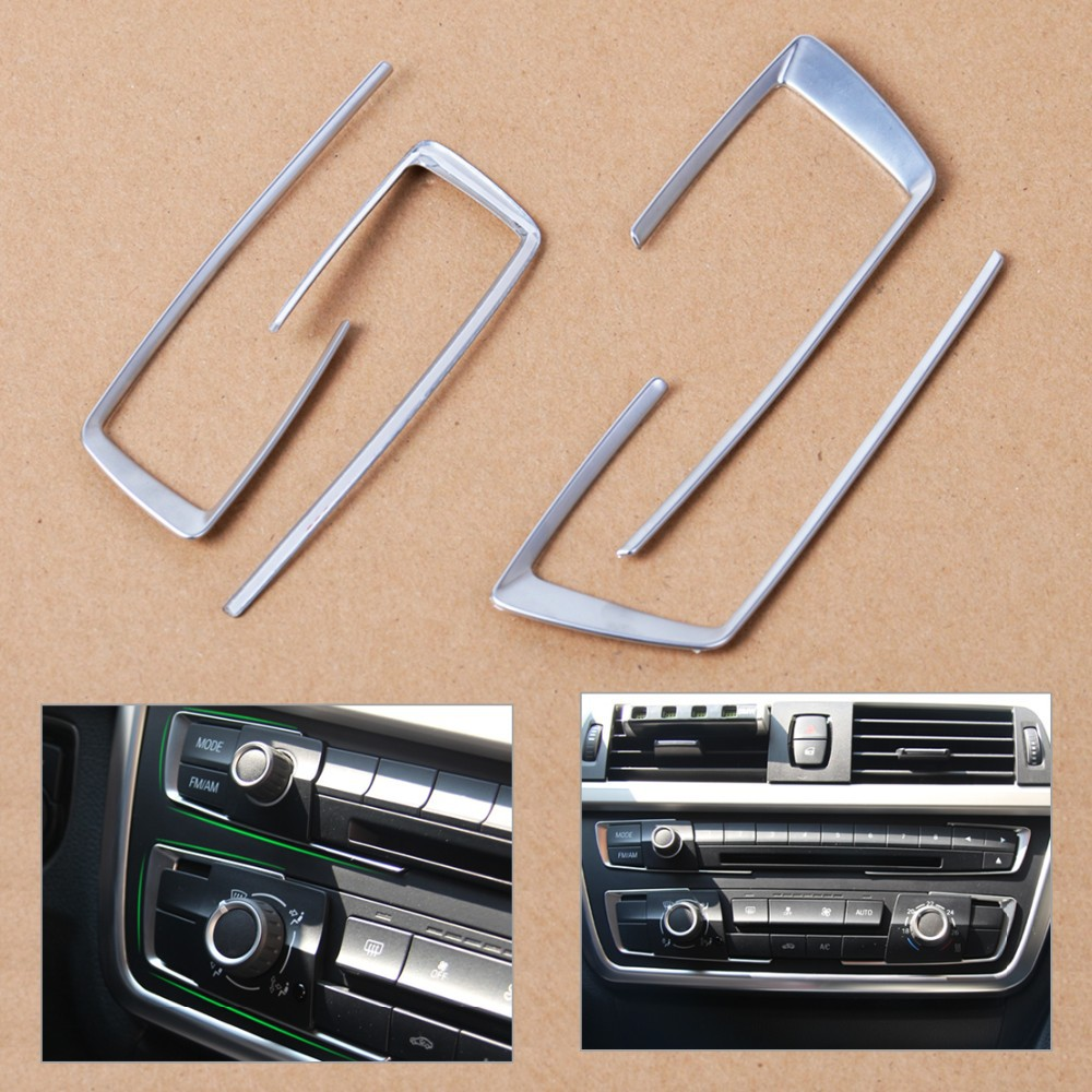 CITALL 4 шт. матовый хром передней панели центральной консоли Накладка для BMW 3 4 серии F30 F31 F32 F34 F36 316 318 320