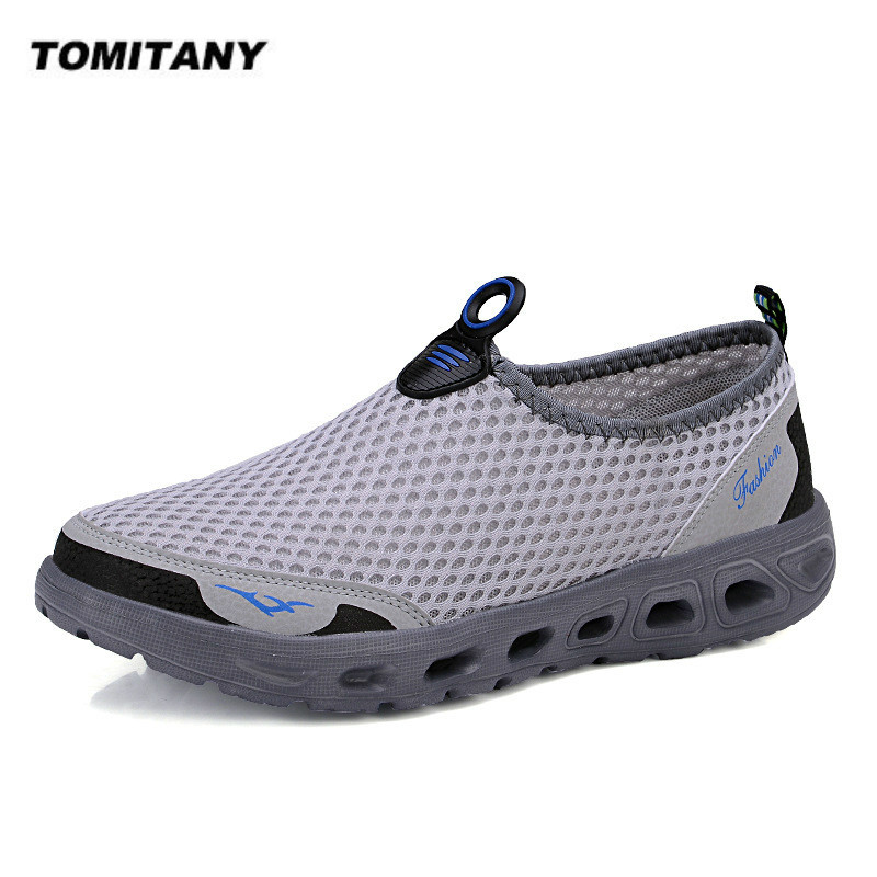 Men Casual Shoes Sneakers Light Breathable Summer Sandals Beach Vacation Mesh Shoes Loafers Zapatos De Hombre Slip-On Men Shoes