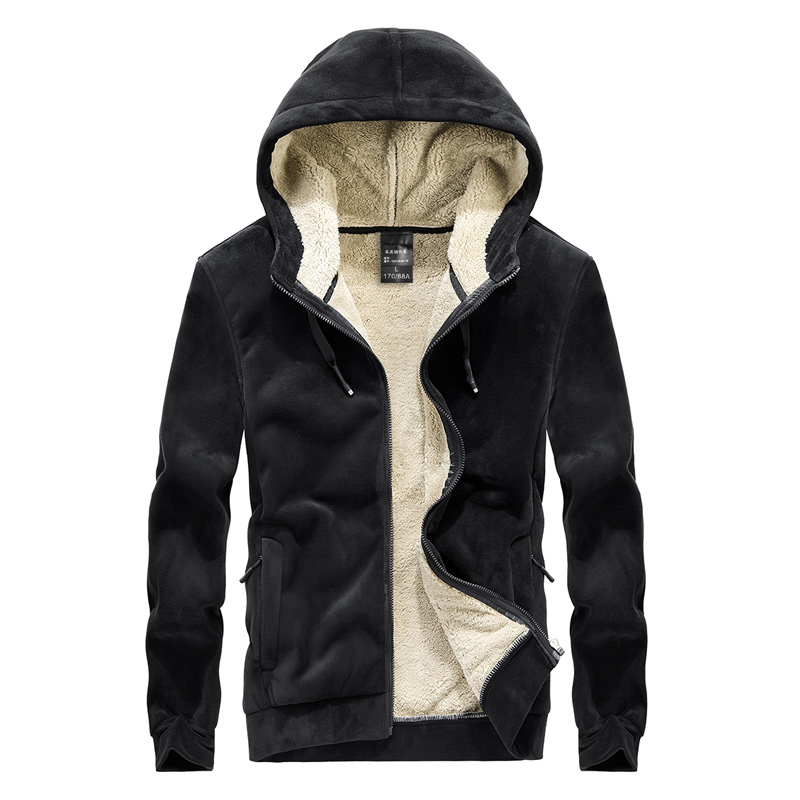 Men's hoodie  jacket coat lamb down men's sweater coat plus size Silver fox cashmere men's warm  jacket 6
