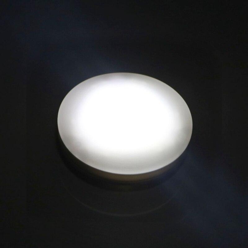LED Night Light Wireless Bedside Wall Lamp Press Sensor Round Bedroom Lamp Closet Bookcase Showcase Light
