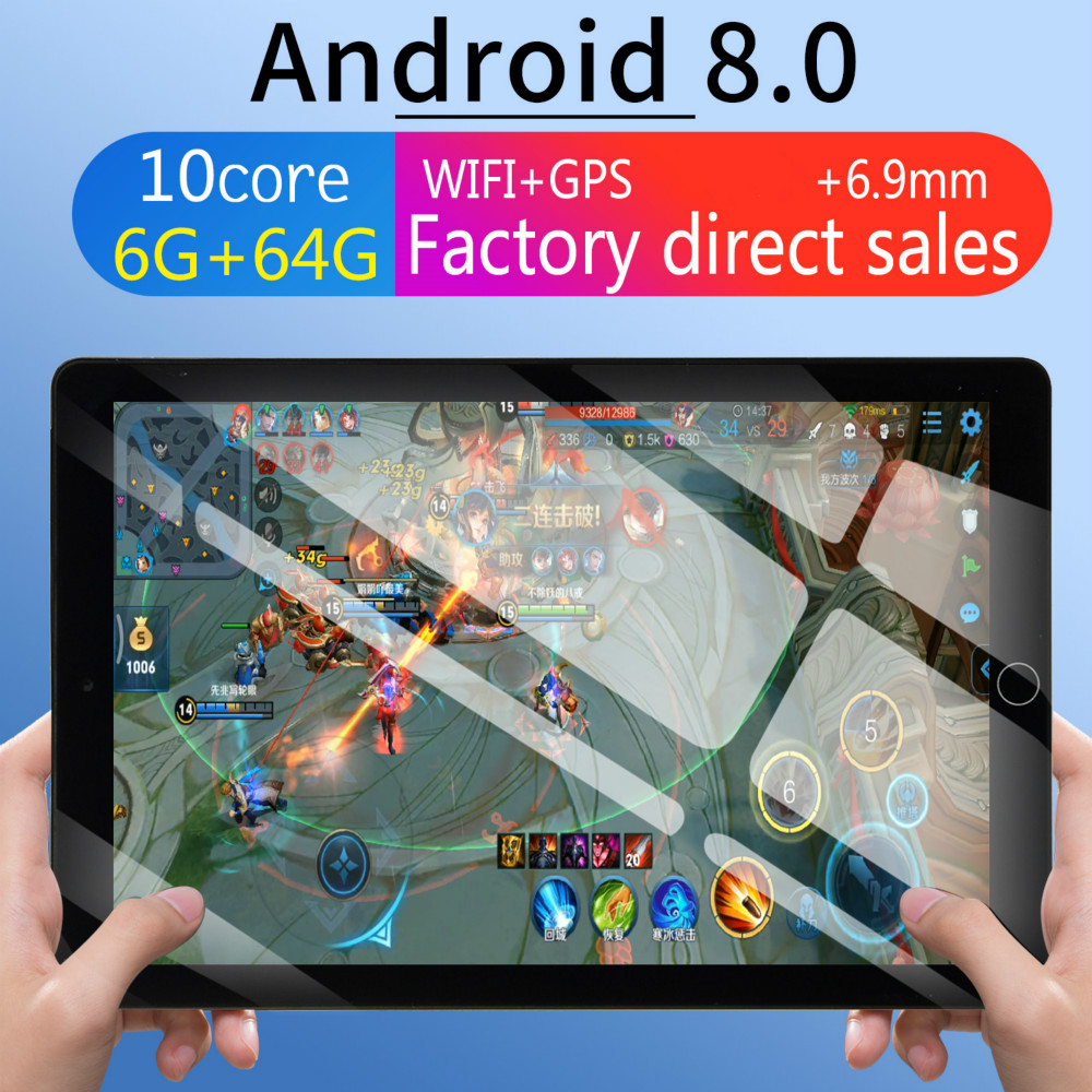 10 Inch Tablet PC 3G/4G Android 8.0 Octa Core Super Tablets Ram 6G+64G WiFi GPS 10 Tablet  SIM GPS  2020