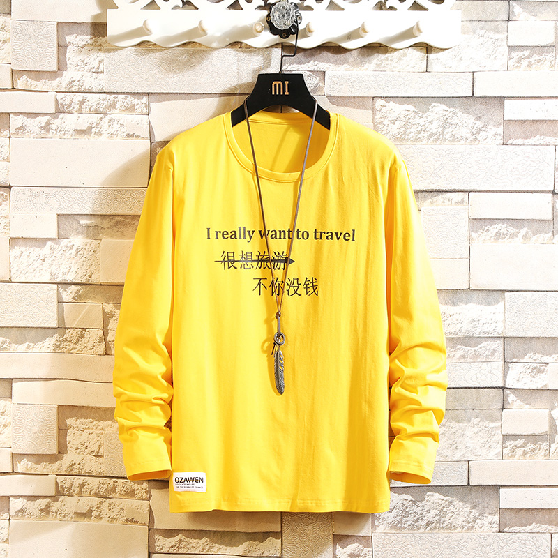 2020 Autumn Spring Tshirt Top Tees Classic Style Brand Fashion Clothes Plus Size M-3XL O NECK Long Sleeve T Shirt Men'S