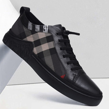 2020 Spring New Men Leather Shoes Lace Up Casual Shoes Men Trend Shoes Comfortable Loafers Flats Driving Sneakers Shoes Size 44 2018 men casual shoes brand men leather shoes sneakers men flats lace up genuine split leather shoes plus big size spring autumn