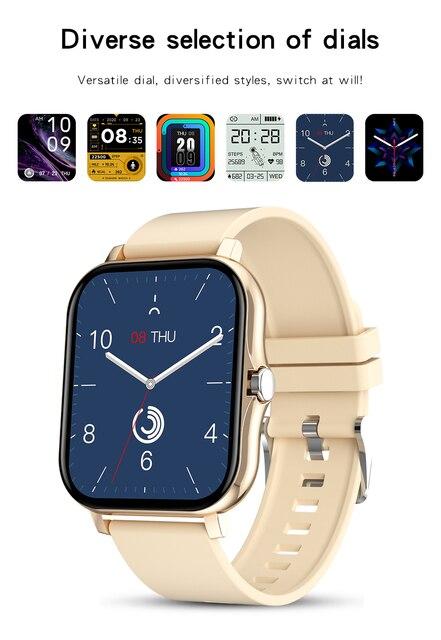 2021 New 1.69 Inch Smart Watch Men Women Bluetooth Call Custom Dial Watch For IOS Xiaomi Oppo Huawei PK Smartwatch P8 Plus 2