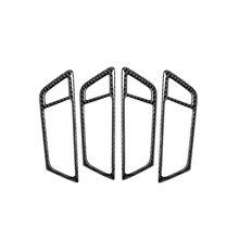 Car-Styling For audi Q5 SQ5 Carbon Fiber Car Door Handle Trim Stickers Door Bowl W91F 1 pc carbon fiber car interior trim control panel stickers for audi q5 10 17