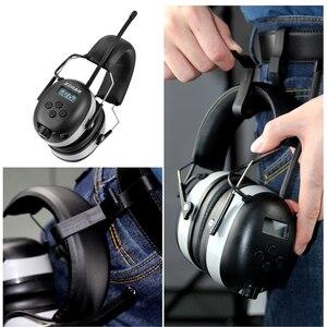 Image 5 - Fryzjerem cyfrowy AM/FM Stereo Radio nauszniki NRR 24dB ochrona słuchu do koszenia, profesjonalnego ochronników słuchu słuchawki Radio