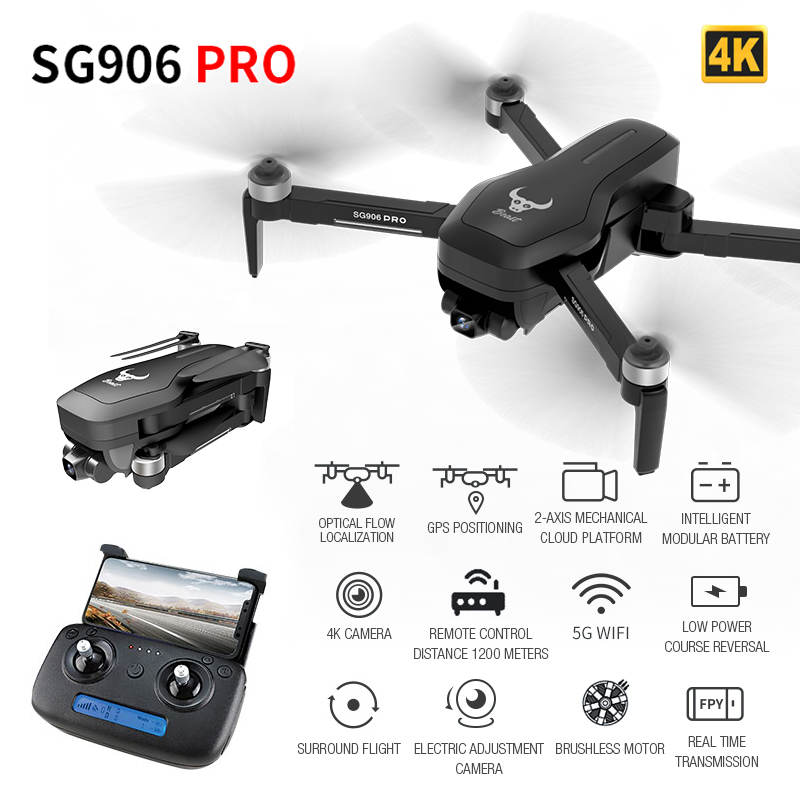 Profession <font><b>GPS</b></font> Drone With 2-axis Anti-shake Self-stabilizing Gimbal 4K HD Camera WiFi FPV 50 Times Zoom RC Drone Quadcopter image