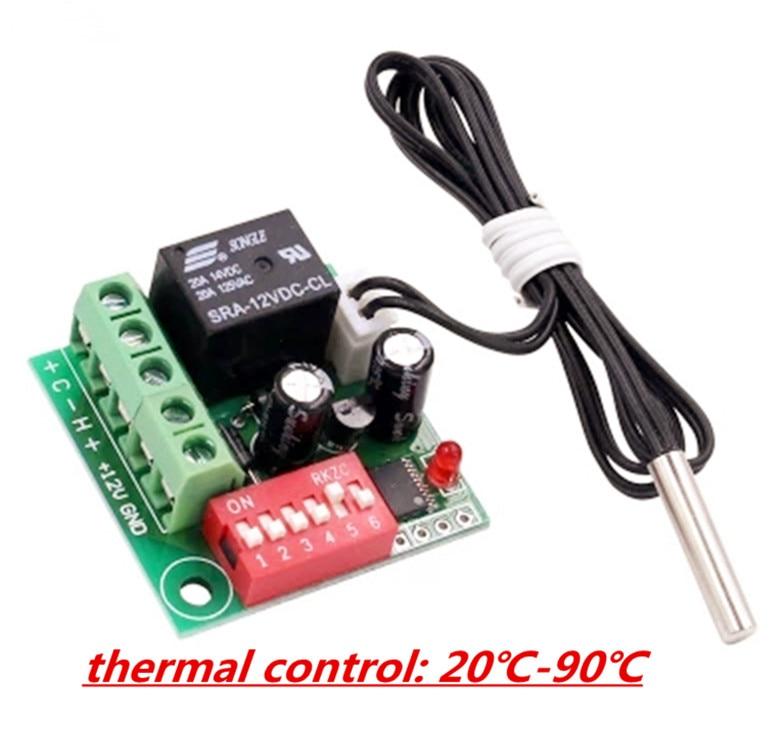 Xh-w1701adjustable переключатель контроля температуры с высокой точностью рассеивания тепла 12 В постоянного тока Переключатель Регулятор температ...