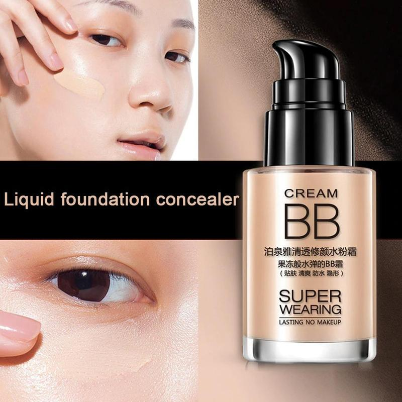 30ml BB Cream Foundation liquid concealer skin insulation cream from dirty air ash natural nude makeup cosmetics Tools image